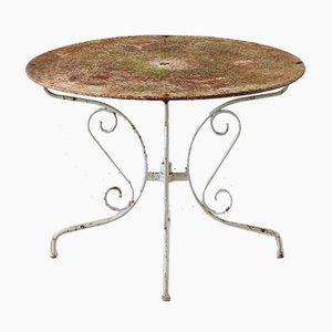 Mesa de jardín patinada