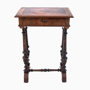 Antique Walnut Thread Table, Western Europe, 1900s