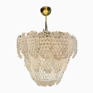 Murano Glass Chandelier with Grape Cluster Drawings from Mazzega