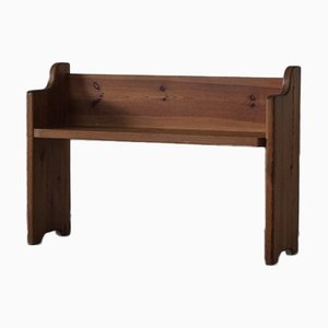 Mid-Century Swedish Solid Pine Bench in the Style of Axel Einar Hjorth, 1950s