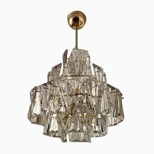 Dreieckige Kristall Lampe von Kinkeldey