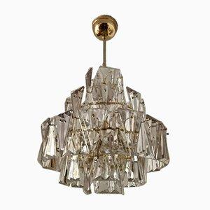 Lampe Triangulaire en Cristal de Kinkeldey