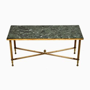 Vintage Brass & Marble Coffee Table