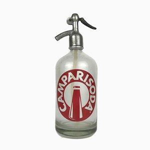 Italienische Campari Seltzer oder Soda Flasche, 1950er
