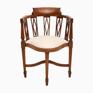 Antique Edwardian Inlaid Corner Chair