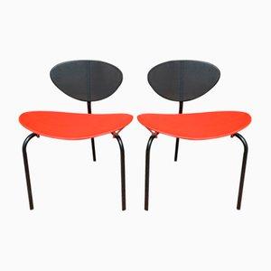 Nagasaki Tripod Chairs by Mathieu Mategot, 1954, Set of 2