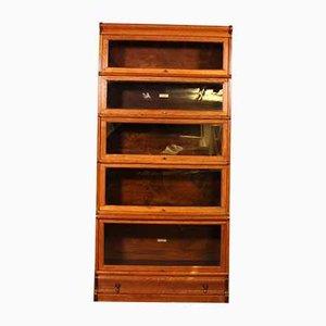 5-Piece Stacking Bookcase in Oak from Globe Wernicke
