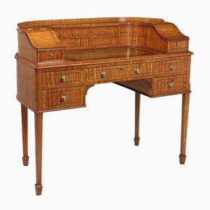 Escritorio antiguo de madera satinada de Carlton House, década de 1900