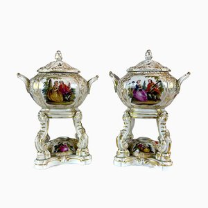 Perfume Burners in Porcelain from KPM Berlin, Germany, 1820s, Set of 2