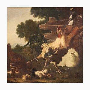 Große Signierte Malerei, 19. Jahrhundert