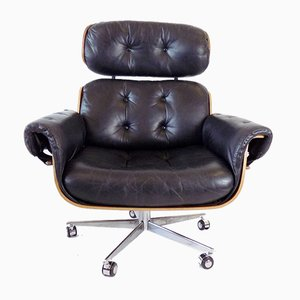 Black Leather Chair by Martin Stoll