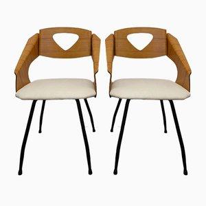 Stühle von Carlo Ratti, 2er Set