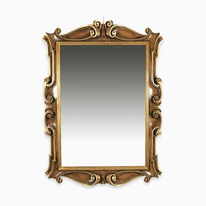 Shaped Mirror in Lacquered Wood