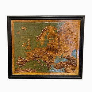 Mapa de Europa de Relief de F. Dufour