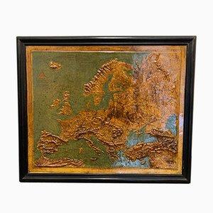 Reliefkarte von Europa von F. Dufour