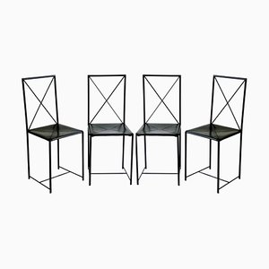 Italian Moka Chairs by Asnago & Vender for Flexform, 1980s, Set of 4