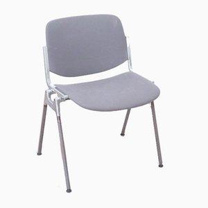Italian DSC 106 Chairs in Gray Fabric by Giancarlo Piretti for Castelli / Anonima Castelli, 1970s