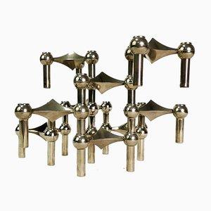 Modulares Kerzenständer Set von C. Stoffi & F. Nagel für Bayerische Metallfabrik, 1960er