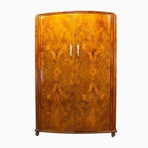 Art Nouveau Walnut Wardrobe, 1930s
