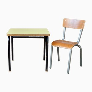 Child's Desk and Chair in Blue, Set of 2
