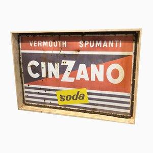 Large Enameled Cinzano Sign from IPSA