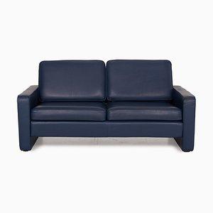 Canapé Conseta en Cuir Bleu de COR