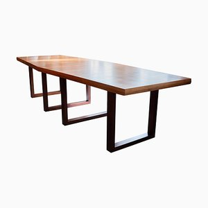 Large Boat Shaped Conference / Dining Table by De Coene, Belgium