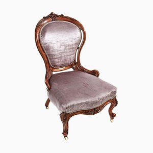 Victorian Carved Walnut Ladies Chair