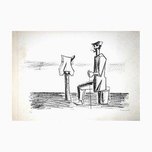 Pietro Morando, The Scarecrow, Original Lithograph, 1960s