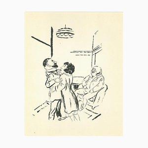 George Grosz, Vergebung, Originale Lithographie und Offsetdruck, 1925
