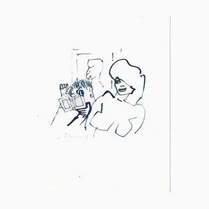 Mino Maccari, Sex Appeal, Original Ink Drawing on Paper, 1960s