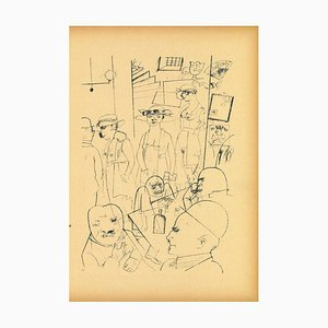 George Grosz, At Night, Original Offset and Lithograph, 1923