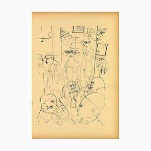 George Grosz, At Night, Original Offset und Lithographie, 1923