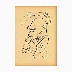 George Grosz, Der Absolute Monarchist, Original Offset und Lithographie, 1923