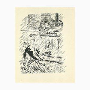 George Grosz, The Escape Original Lithograph and Offset, 1925