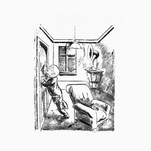 George Grosz, The Prisoner, Original Lithograph and Offset, 1925