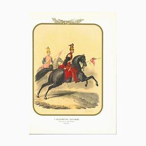 Antonio Zezon, Lancers Regiment, Original Lithograph, 1854