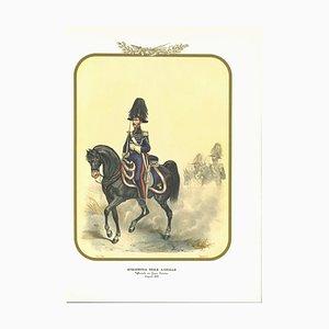 Antonio Zezon, Königliche Gendarmerie zu Pferd, Originale Lithographie, 1852