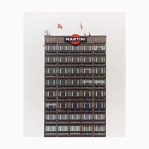 Grey Martini, Milan, Architectural Color Photograph, 2019