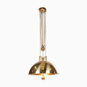 Counter Balance Brass Pendant Light by Florian Schulz, Germany, 1950s