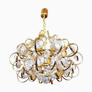 German Palwa Sputnik Chandelier Crystal & Gilt Brass by Gaetano Sciolari, 1960s