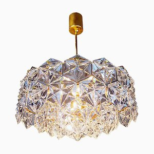 German Gold-Plated Crystal Chandelier from Kinkeldey, 1960s