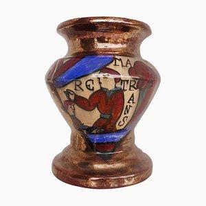 Majolica Vase by René Emile Brenner for Tapisserie De Bayeux Normandy, 1920s