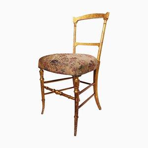 Antique Chiavari Giltwood Chair, Italy, 19th Century