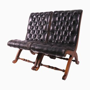 Leather Tufted Chairs by Pierre Lottier for Valenti, Set of 2