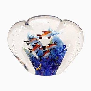 Vintage Murano Glass Aquarium Paperweight