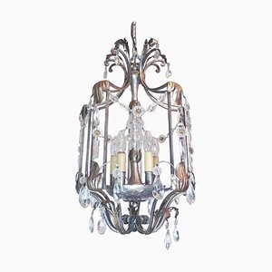 Florentine Crystal and Wrought Iron Lantern from BF Art, Italy