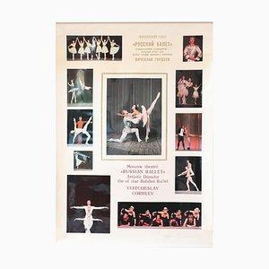 Vintage Russian Ballet High Glossy Soviet-Era Poster, 1980s