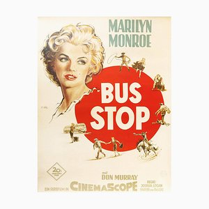 Marilyn Monroe and Don Murray, Bus Stop, German Movie Poster, 1956
