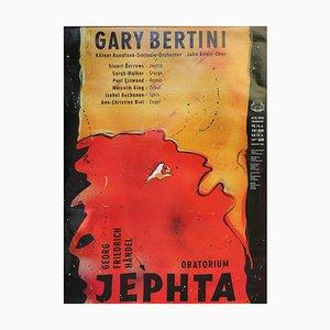 Gary Bertini, Jephta, Concert Poster, 1985, Alte Oper Frankfurt, Germany